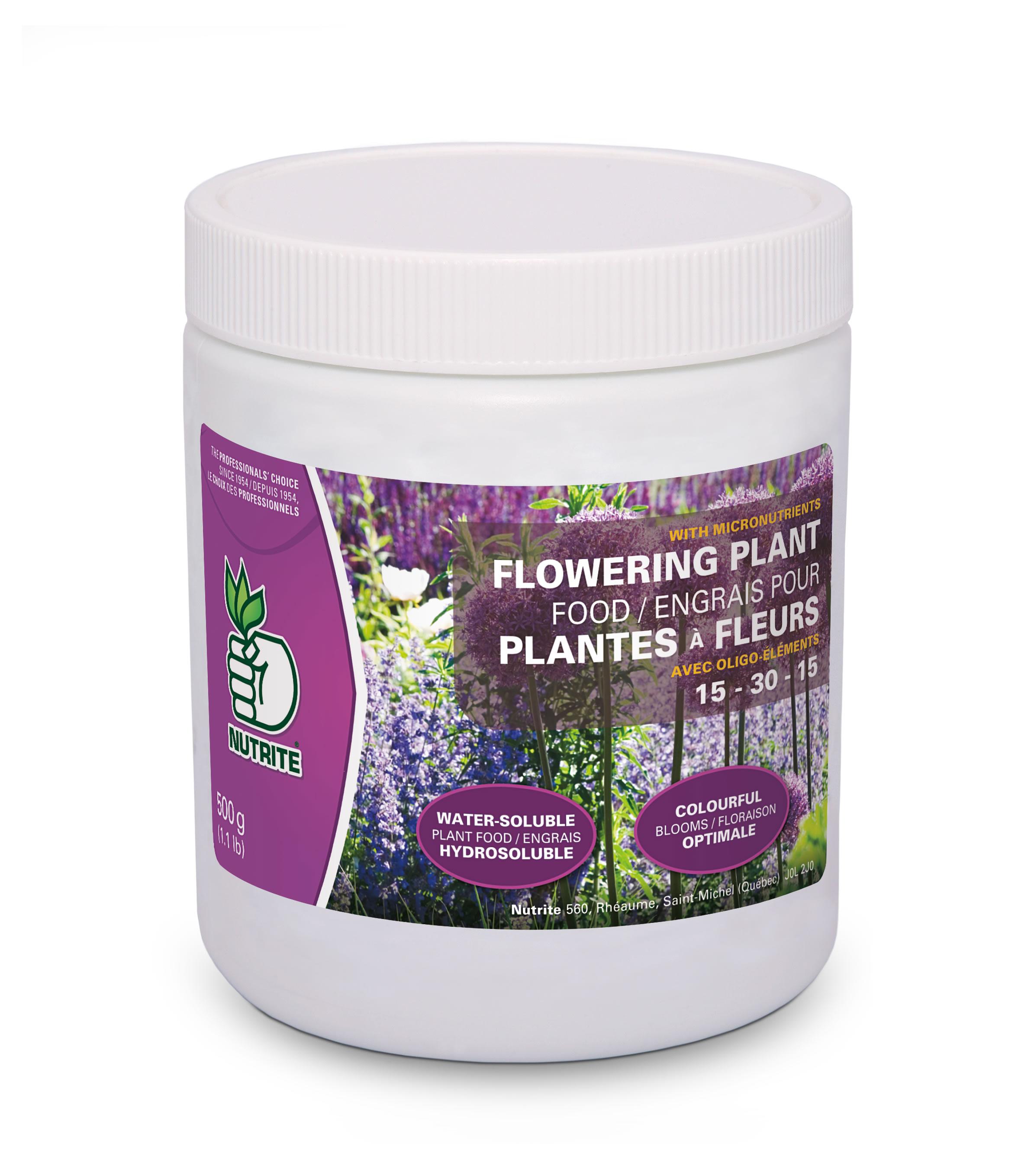 Engrais pour fleurs 15 30 15 nutrite nos produits for Produit de jardinage