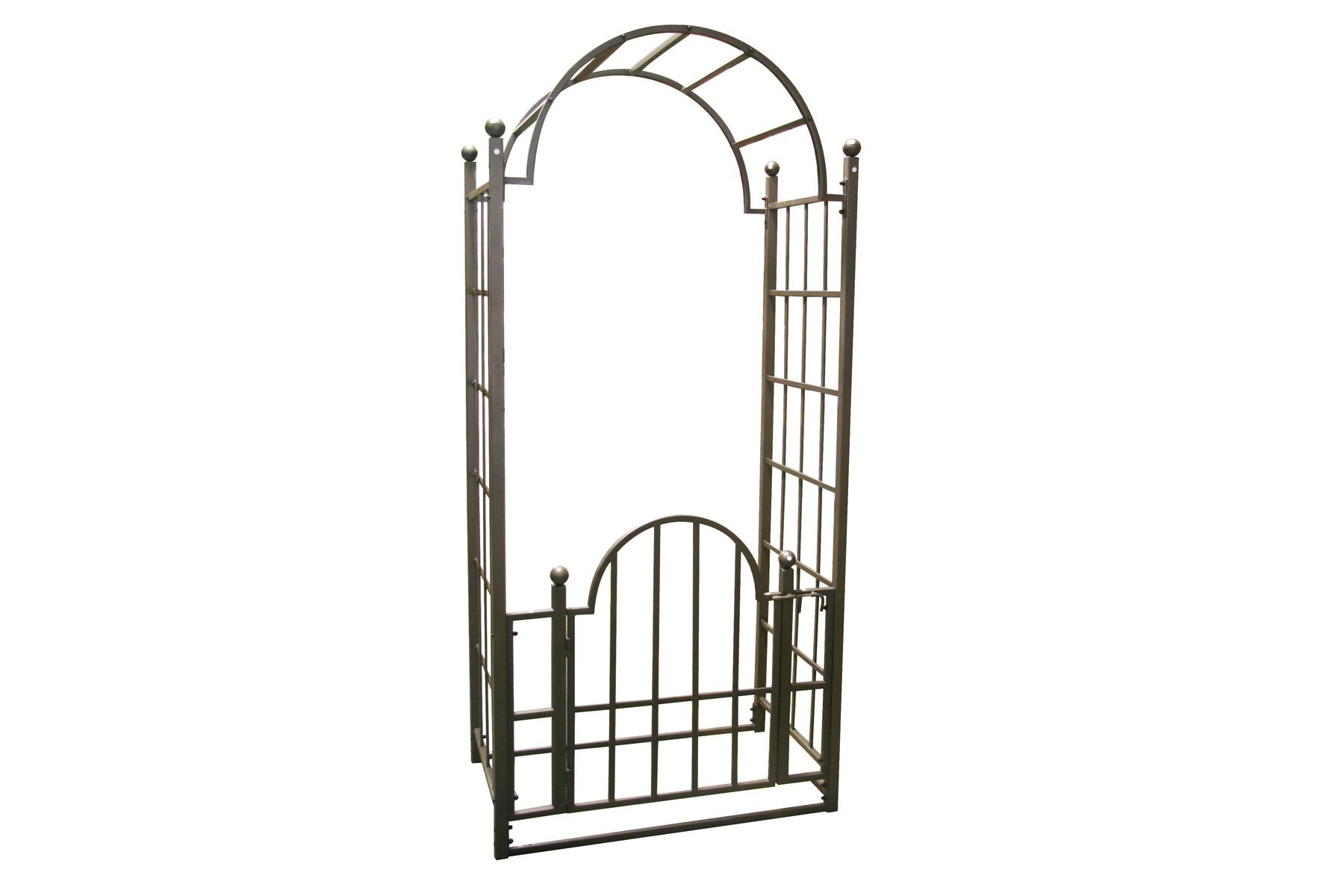 Tonnelle Metal Noir Avec Porte H 8 5 39 Derco Nos