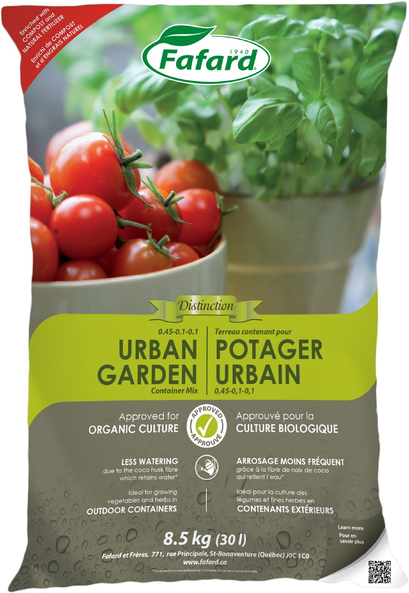terre potager urbain bio fafard 30 li nos produits horticoles et de jardinage jardin2m. Black Bedroom Furniture Sets. Home Design Ideas