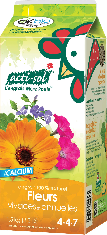 Engrais vivaces annuelles 4 4 7 acti sol nos for Produit de jardinage