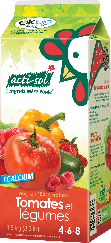 Engrais tomates et l gumes 4 6 8 acti sol nos for Produit de jardinage