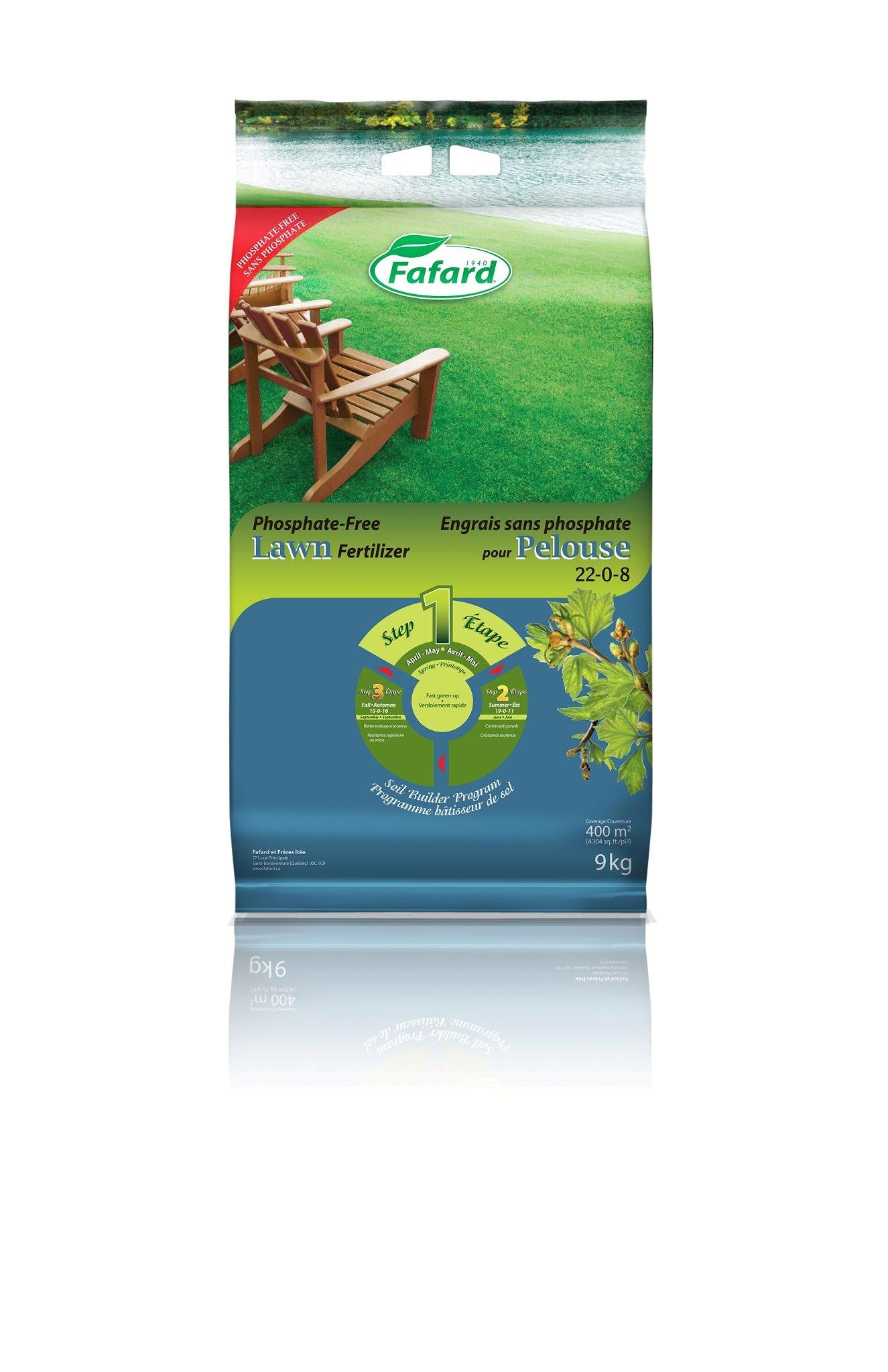 Engrais pelouse printemps 22 0 8 fafard nos produits - Engrais gazon printemps ...