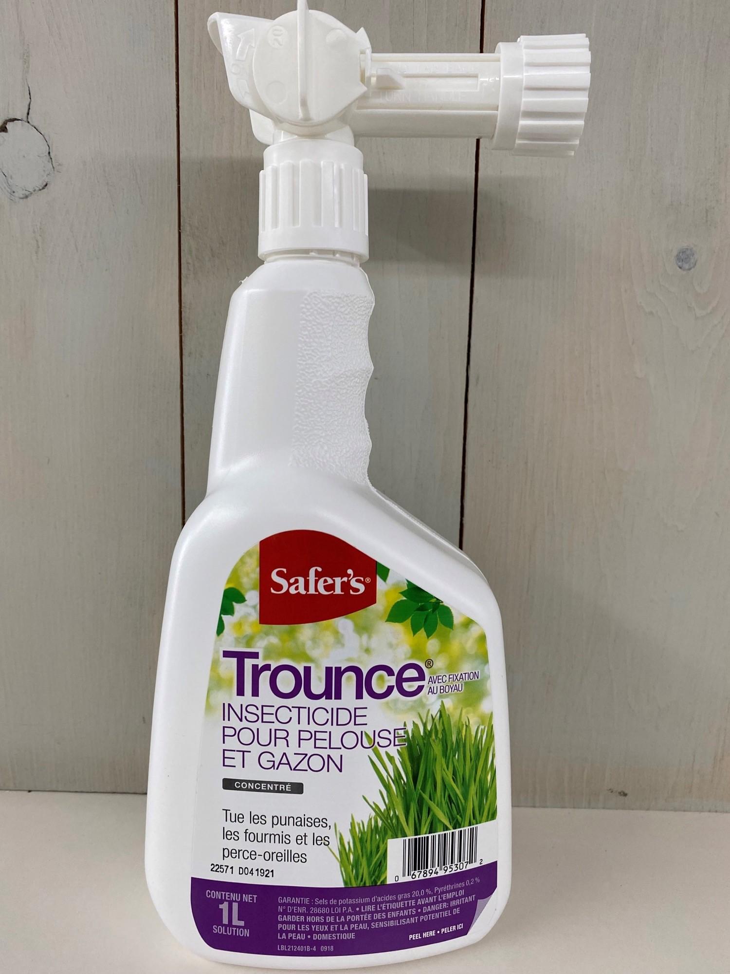 Trounce pour pelouse insecticide au boyeau safer 39 s for Produit de jardinage